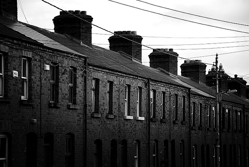 Row of houses - Dublin, Ireland - Photo by azizul hadi